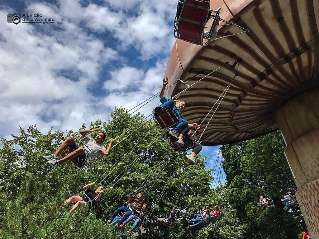Columpios voladores en el área de Austria - guía para visitar Europa Park