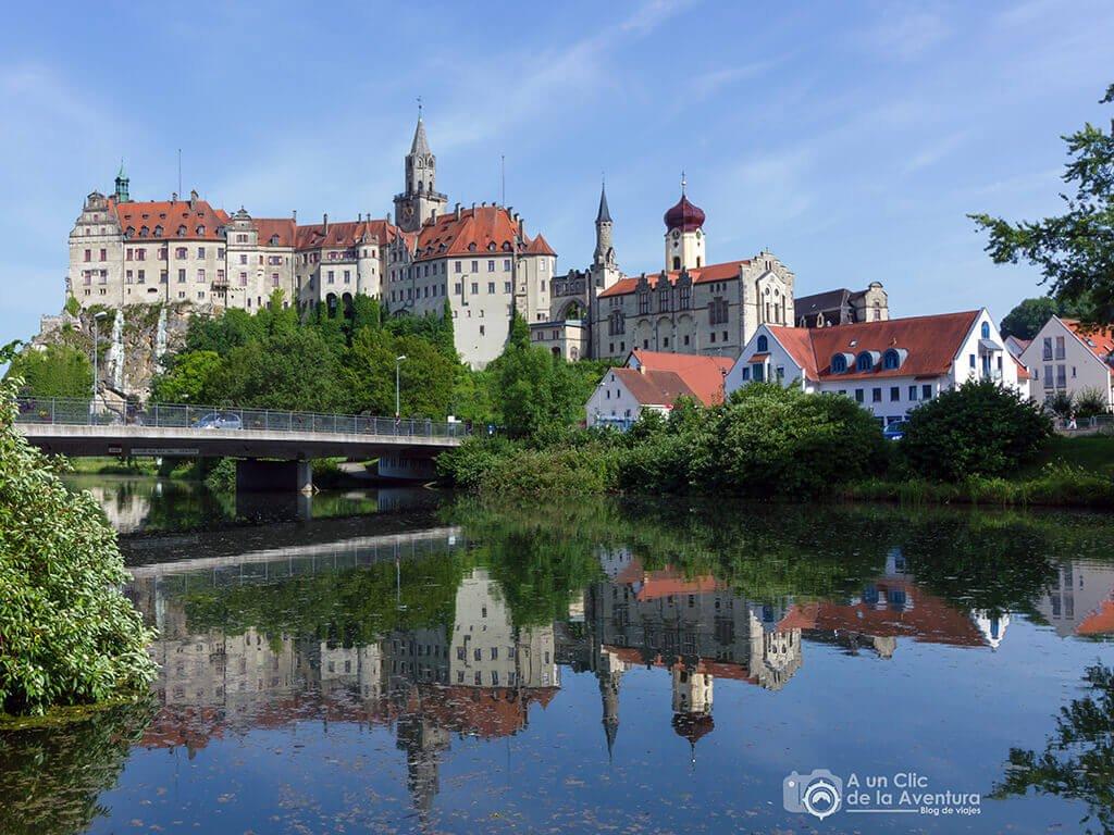 Castillo de Hohenzollern Sigmaringen junto al Danubio