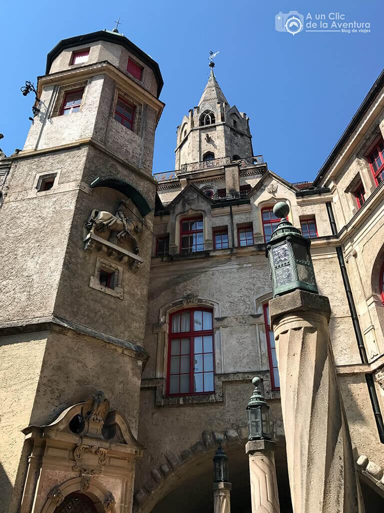 Patio interior del Castillo Hohenzollern Sigmaringen