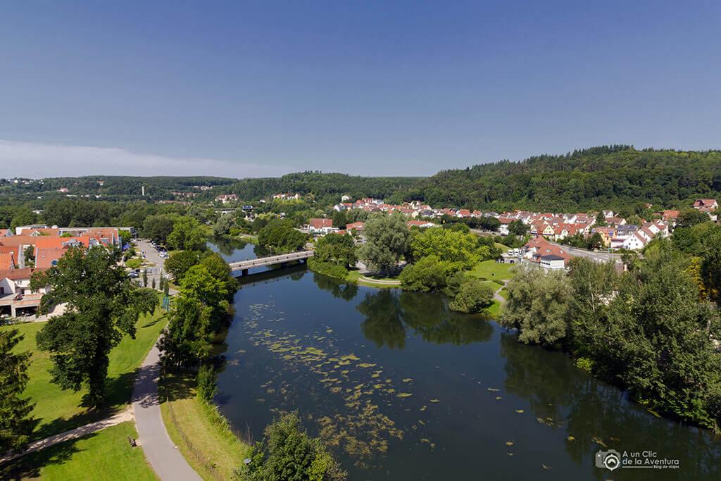 Vista de Sigmaringen desde el Castillo Hohenzollern Sigmaringen