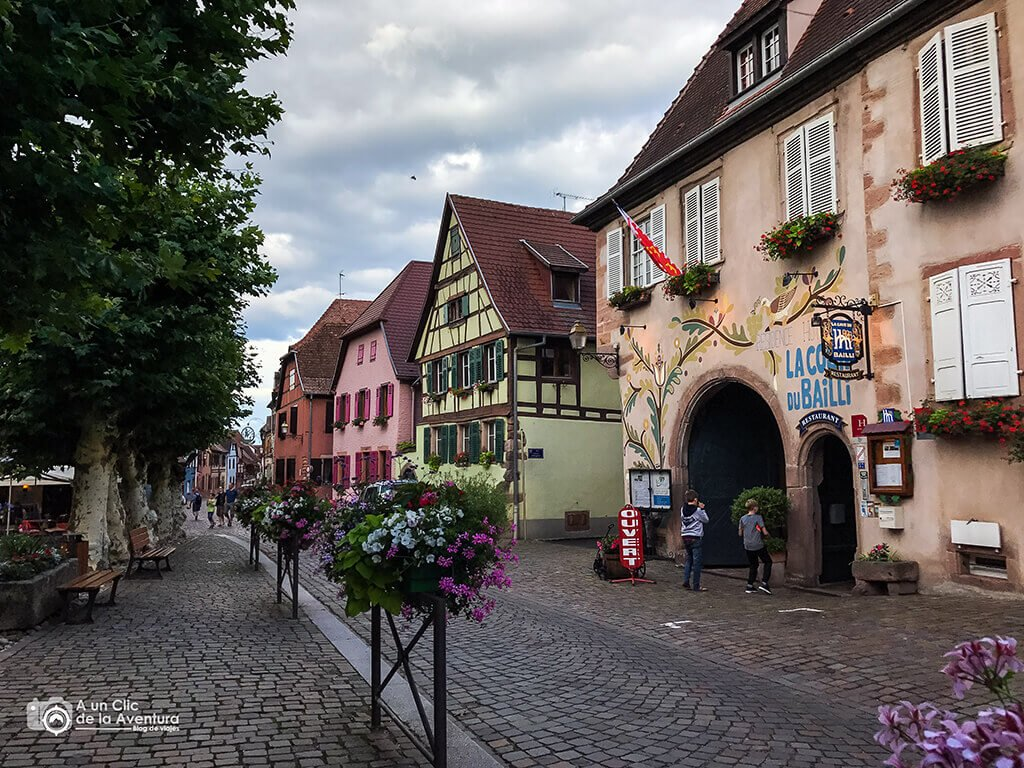 Grand Rue en Bergheim - pueblos más bonitos de Alsacia