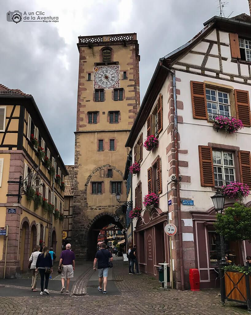 Tour des Bouchers en Ribeauvillé - pueblos más bonitos de Alsacia