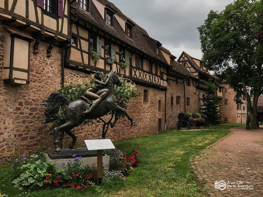 Murallas de Riquewihr - pueblos más bonitos de Alsacia