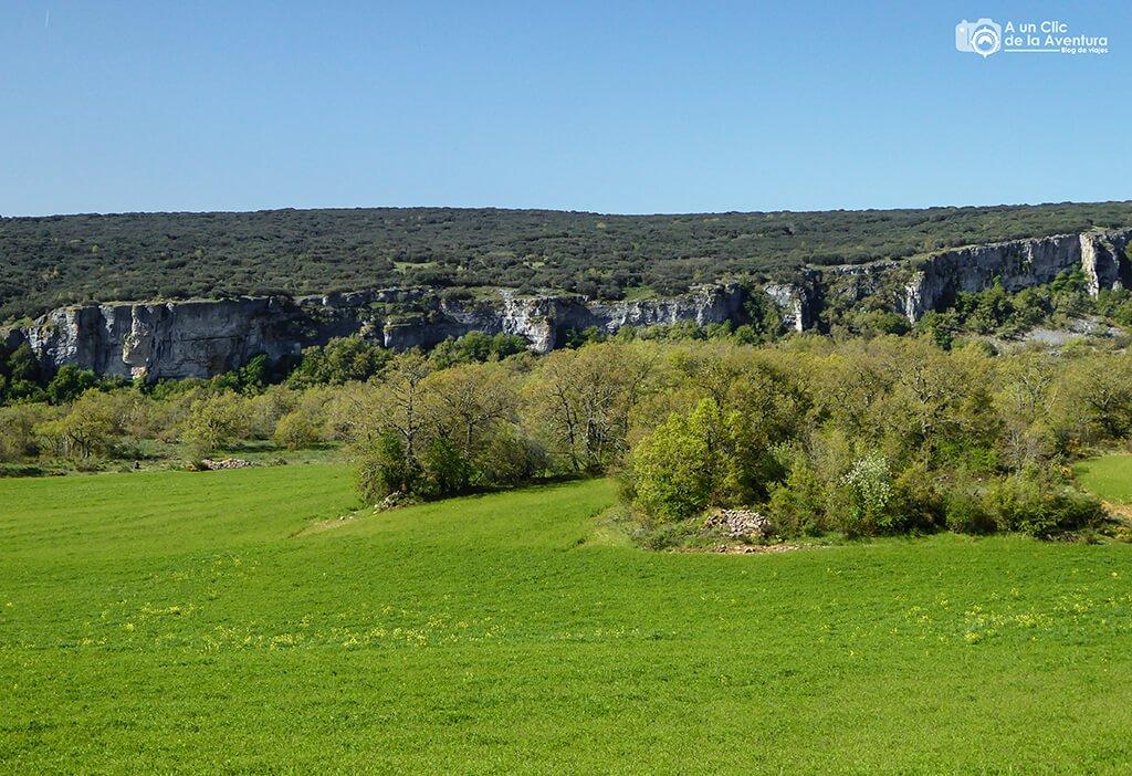 Parte alta del Cañón del Rudrón - ruta por el Alto Rudrón