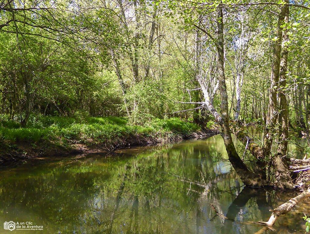 Llegada al río Rudrón - ruta por el Alto Rudrón