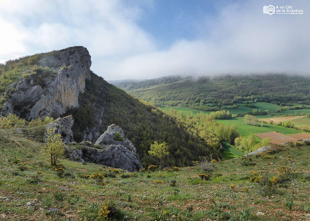 Subiendo al cañón del Rudrón - ruta por el Alto Rudrón