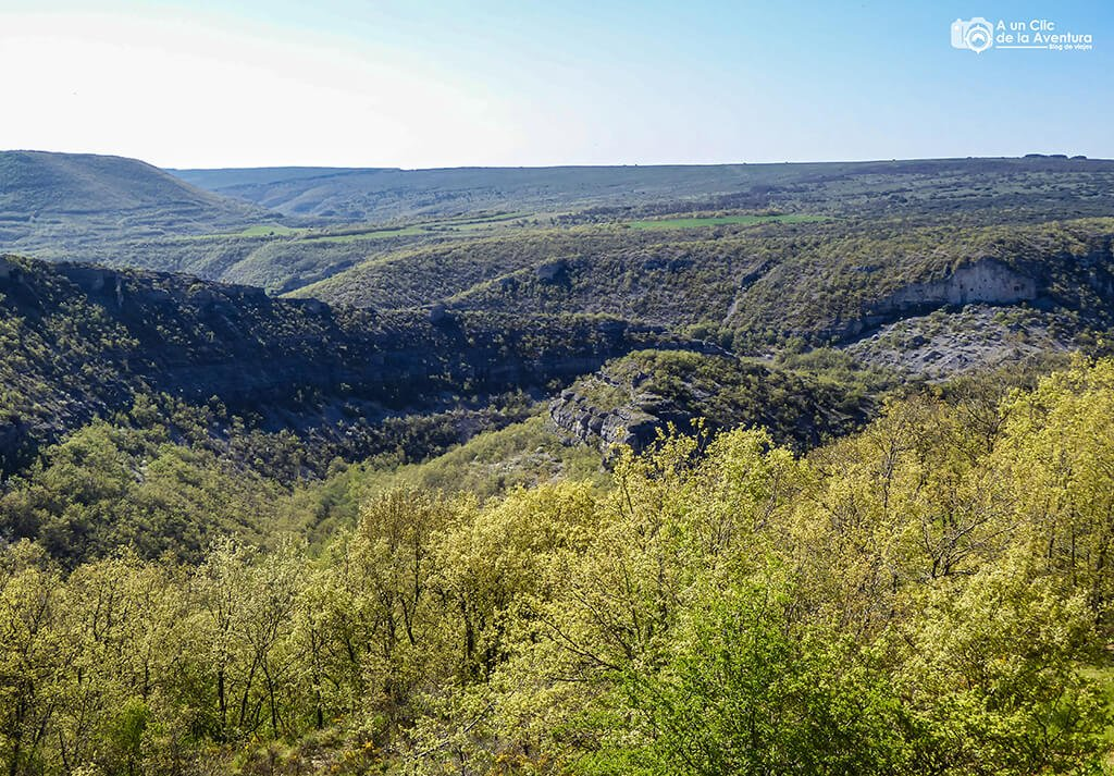 Vista del cañón del Rudrón - ruta por el Alto Rudrón