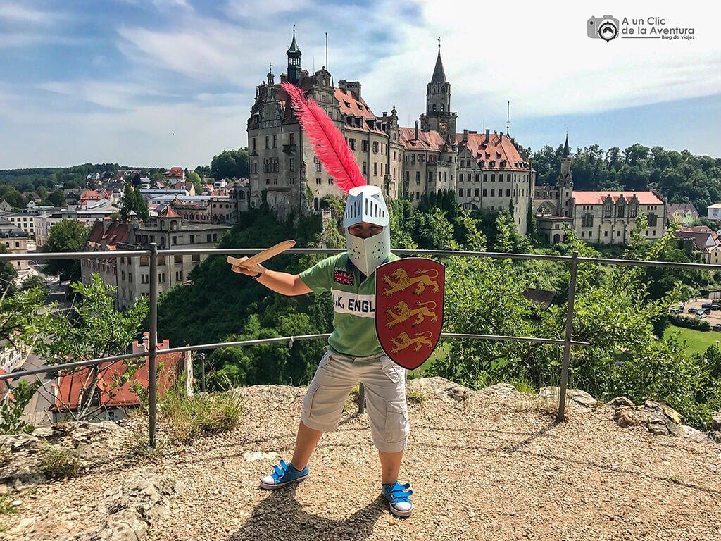 Castillo de Hohenzollern en Sigmaringen en la Selva Negra de Alemania