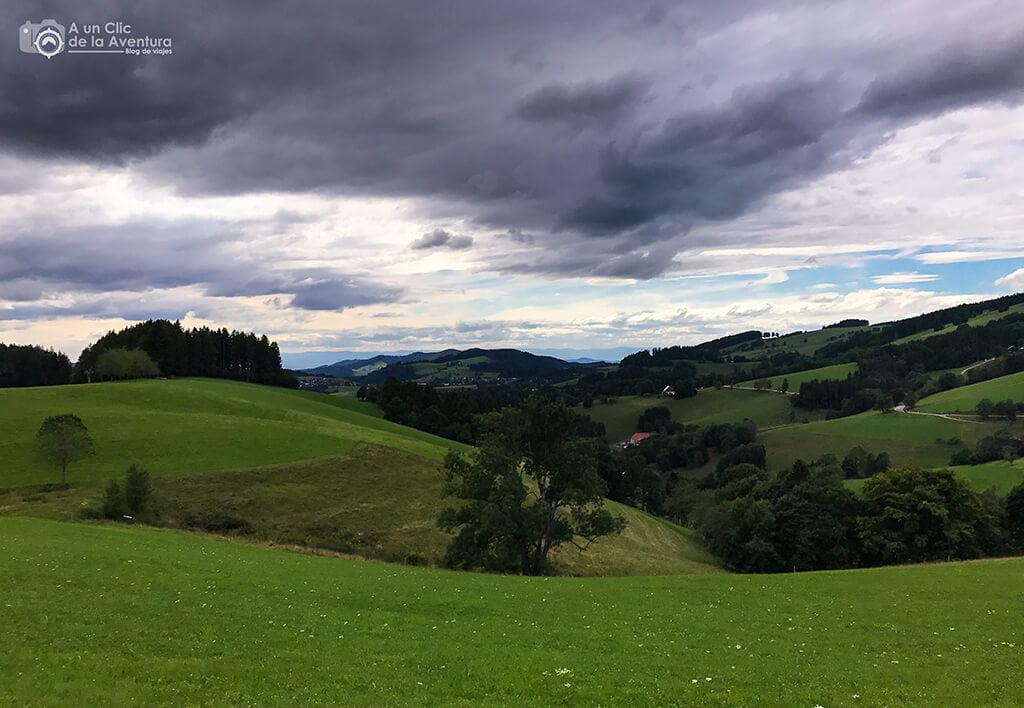 Vistas del sur de la Selva Negra de Alemania