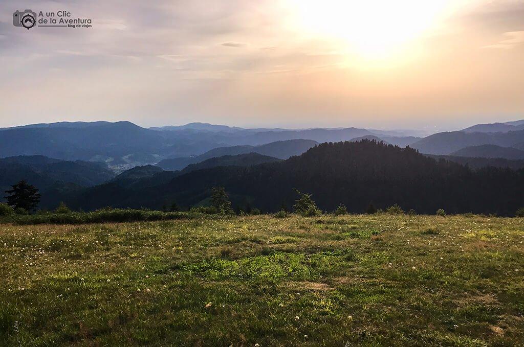 Vistas de la parte norte de la Selva Negra