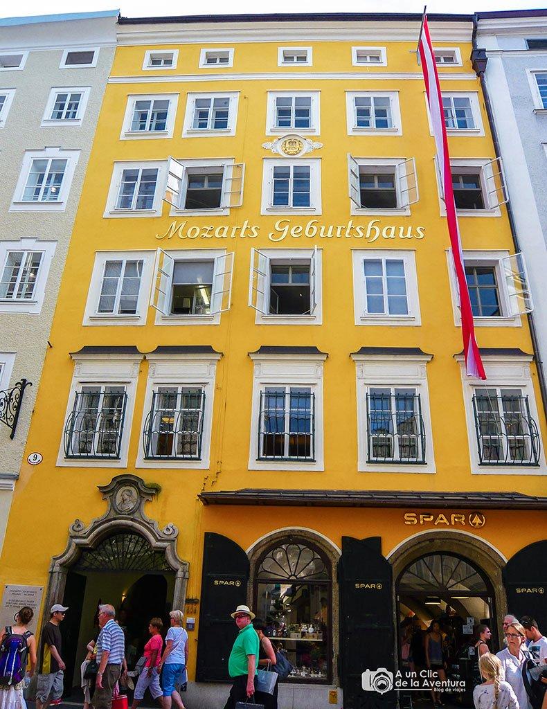 Casa natal de Mozart - qué ver en Salzburgo