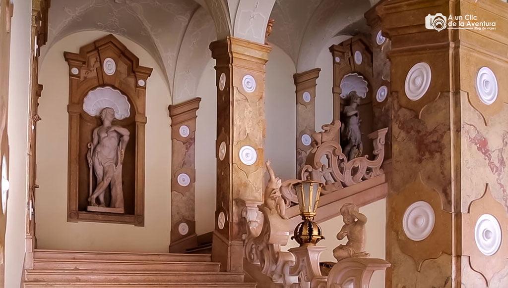 Escalera de los Ángeles del Palacio Mirabell - qué ver en Salzburgo