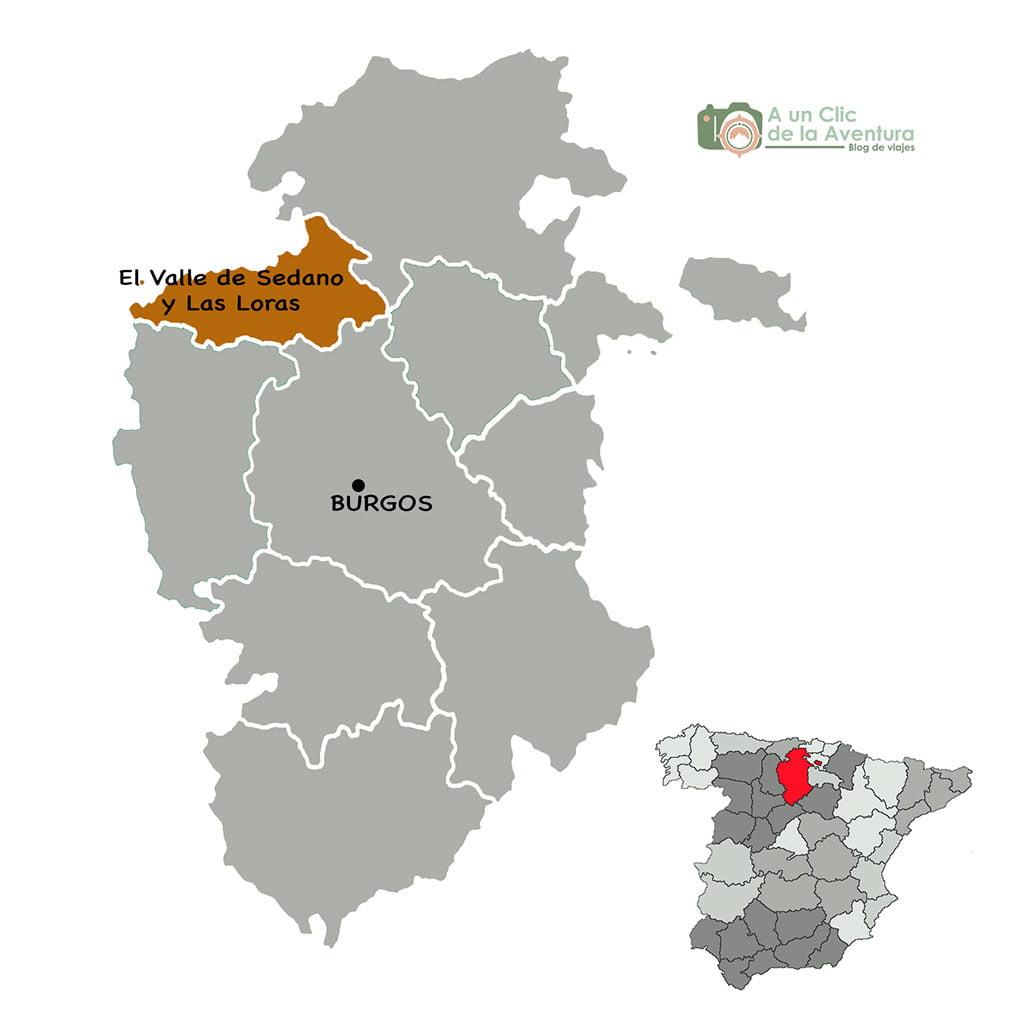 Mapa Valle de Sedano y Las Loras
