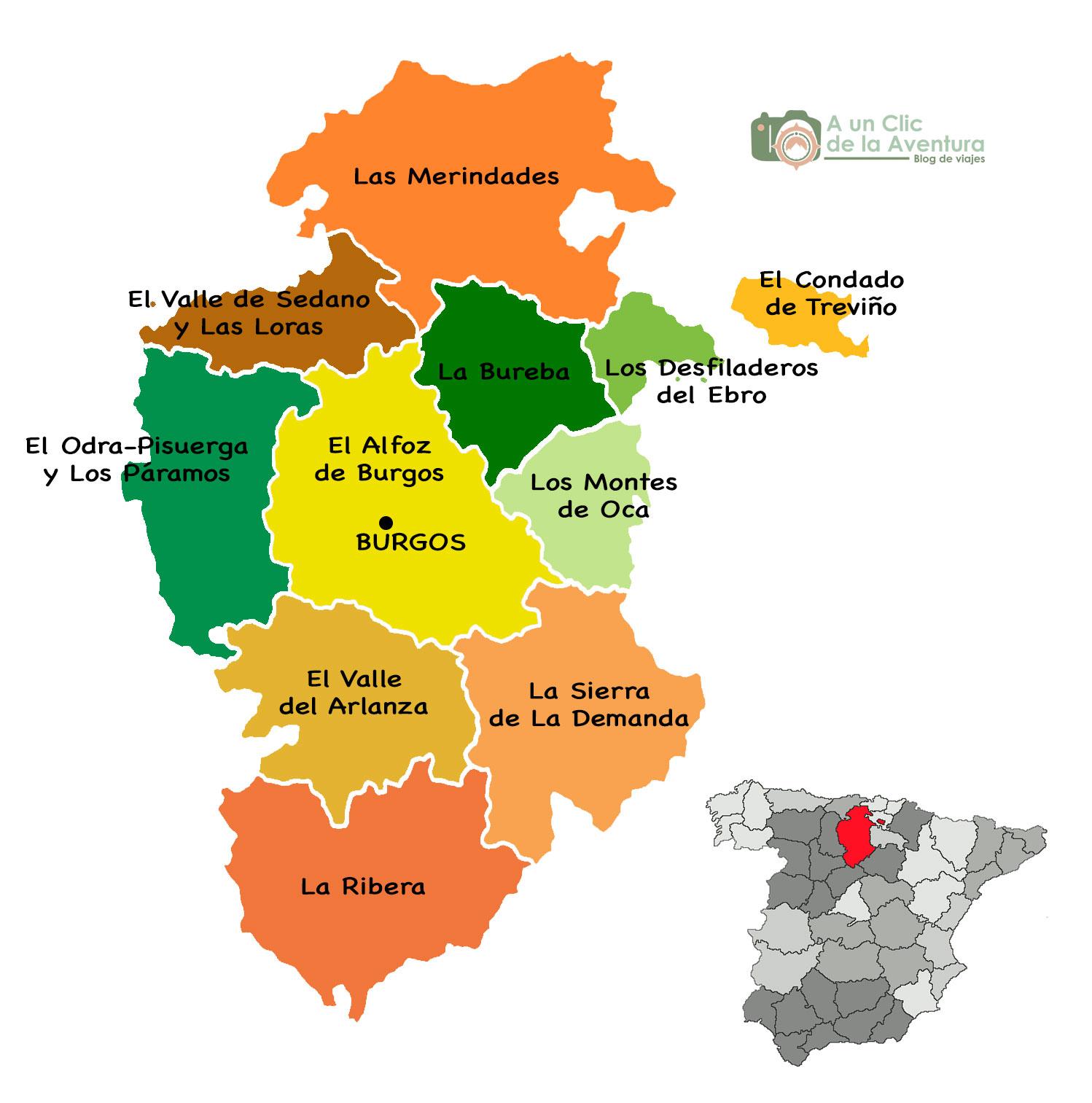 Mapa de Burgos - qué hacer en Burgos