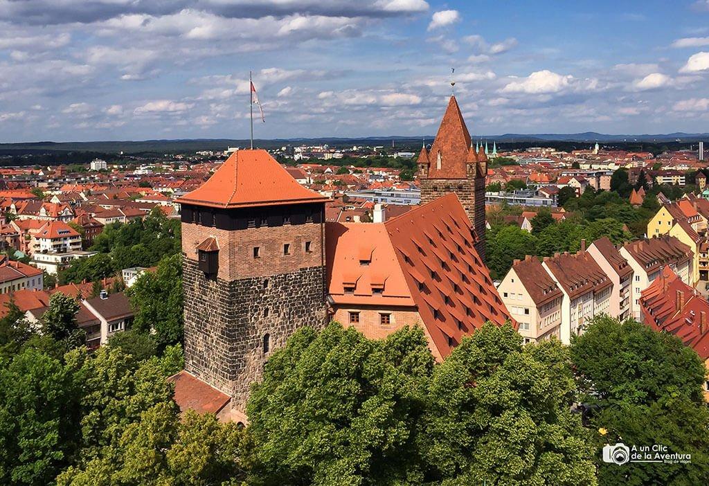 Vistas desde la Torre Sinwell del Castillo Imperial - que ver en Núremberg