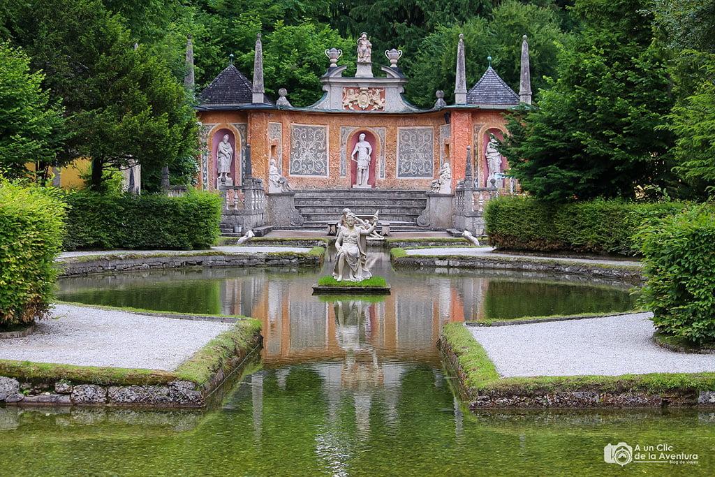 Fuente del Palacio Hellbrunn que ver cerca de Salzburgo
