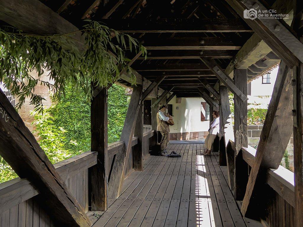 Interior del Puente del Verdugo - que ver en Núremberg
