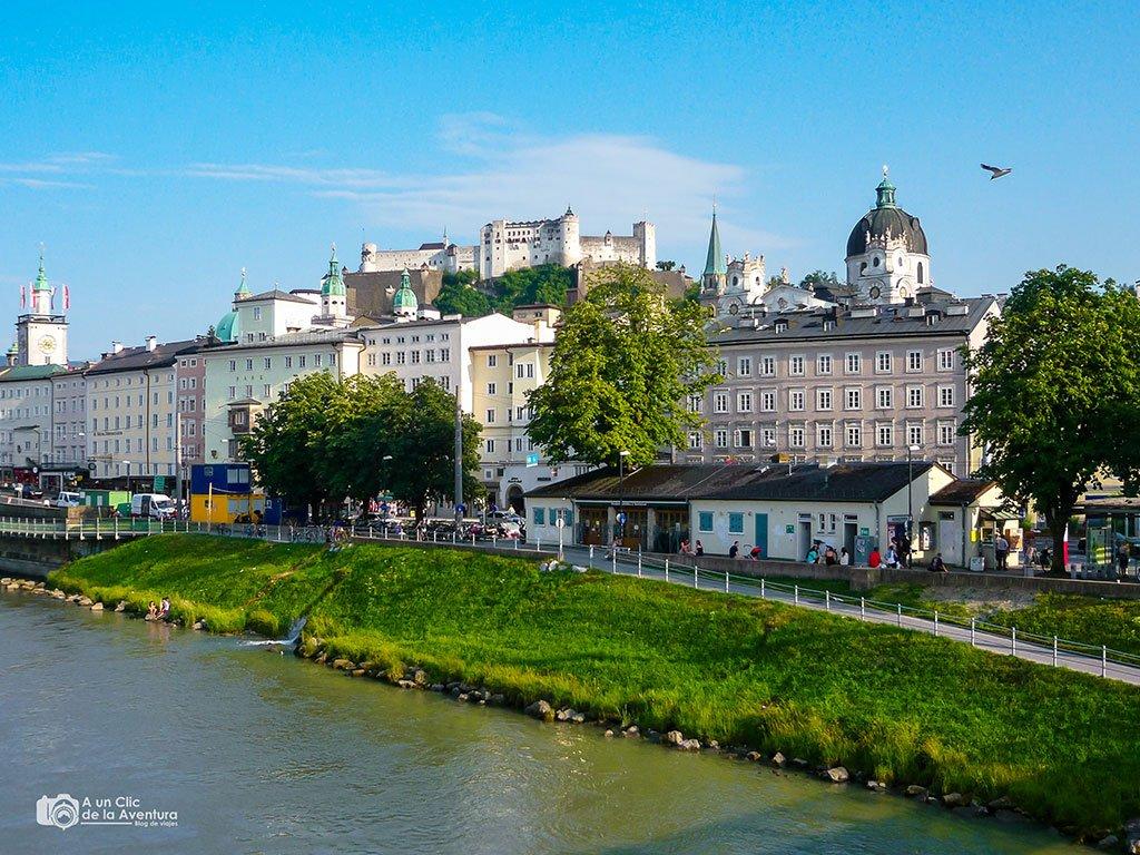 Salzburgo desde el río Salzach - qué ver en Salzburgo