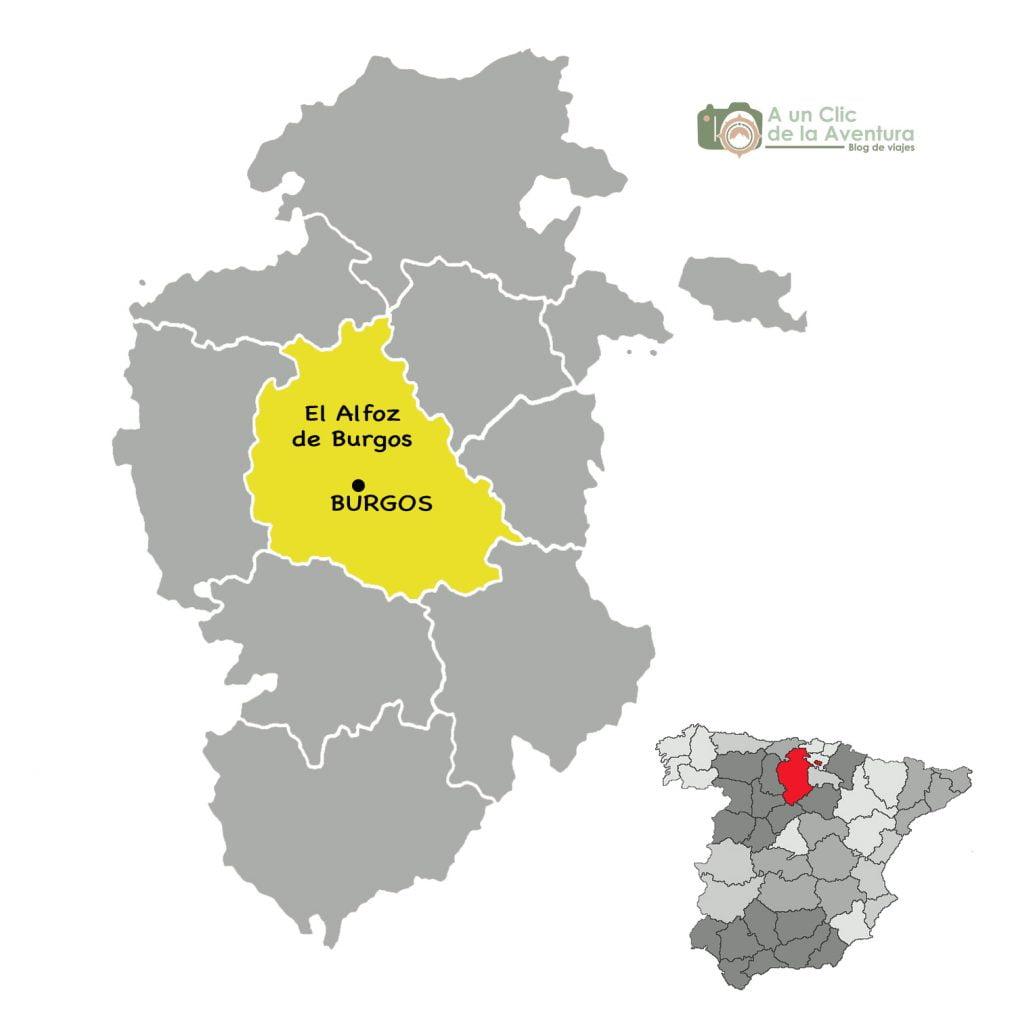 Mapa de los alrededores de Burgos, Alfoz de Burgos