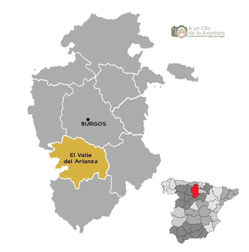 Mapa del Valle del Arlanza