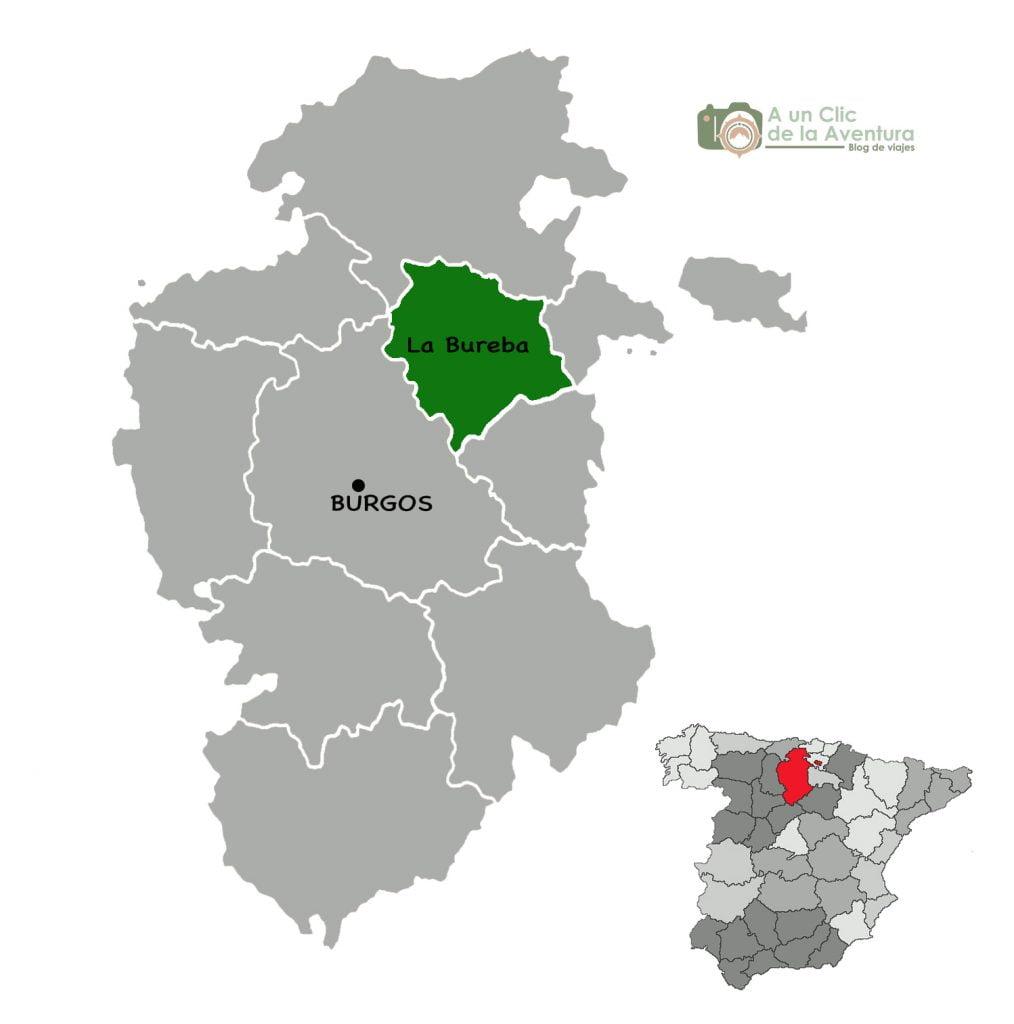 Mapa de La Bureba de Burgos