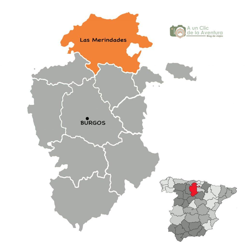 Mapa de Las Merindades de Burgos - ruta por las Merindades