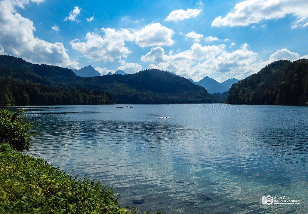 Lago Alpsee cerca del Castillo de Neuschwanstein