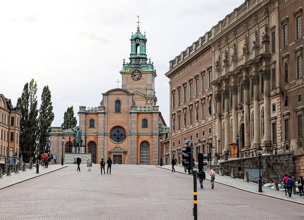 Exterior de la Catedral de San Nicolás de Estocolmo - visitar Estocolmo