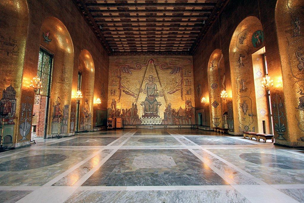 Golden Hall o Sala Dorada del Ayuntamiento - que ver en Estocolmo