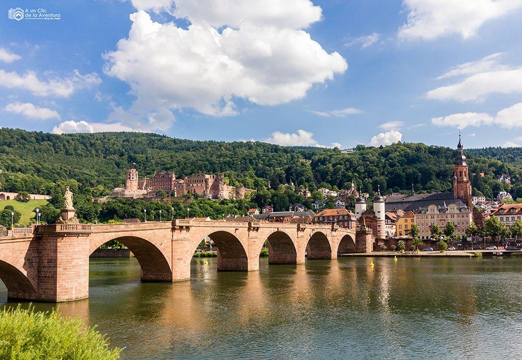 Heidelberg desde la subida al Paseo de los Filósofos- que ver en Heidelberg