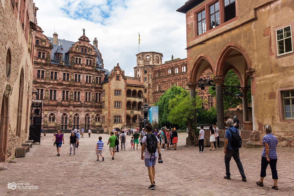 Patio del Castillo de Heidelberg- que ver en Heidelberg