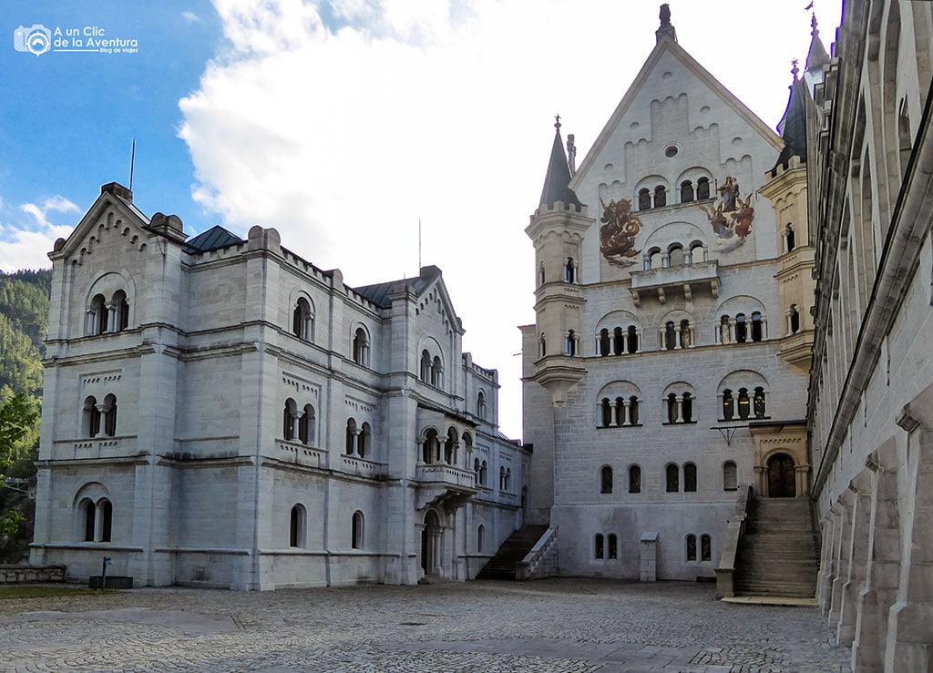 Patio del Castillo de Neuschwanstein