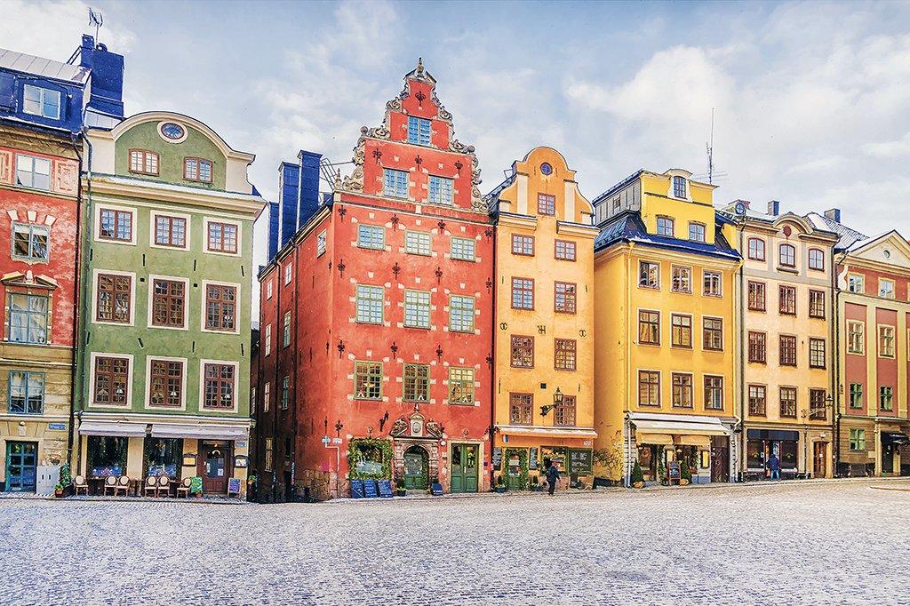 Plaza Stortorget en Gamla Stan - visitar Estocolmo