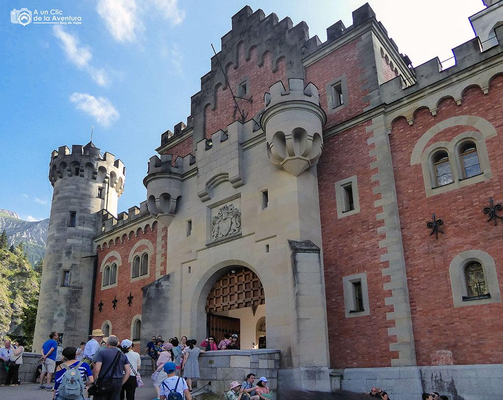 Puerta del Castillo de Neuschwanstein