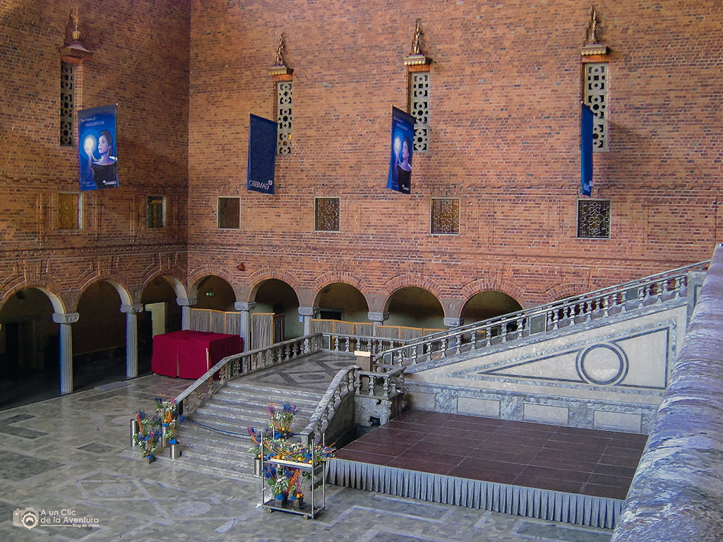 Vestíbulo Azul del Ayuntamiento - que ver en Estocolmo
