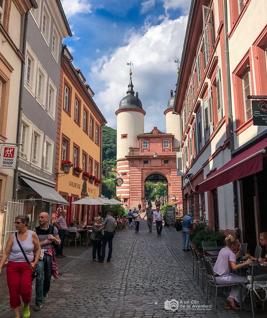 Puerta y Torres del Puente Viejo de Heidelberg- que ver en Heidelberg