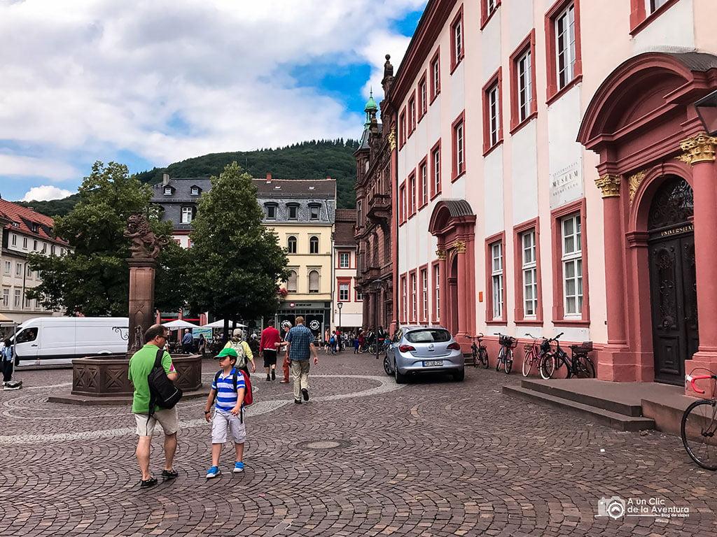 Universitatsplatz de Heidelberg- que ver en Heidelberg
