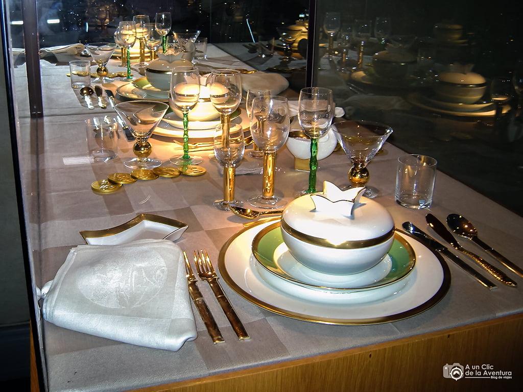 Vajilla de la Cena de Gala del Premio Nobel - que ver en Estocolmo