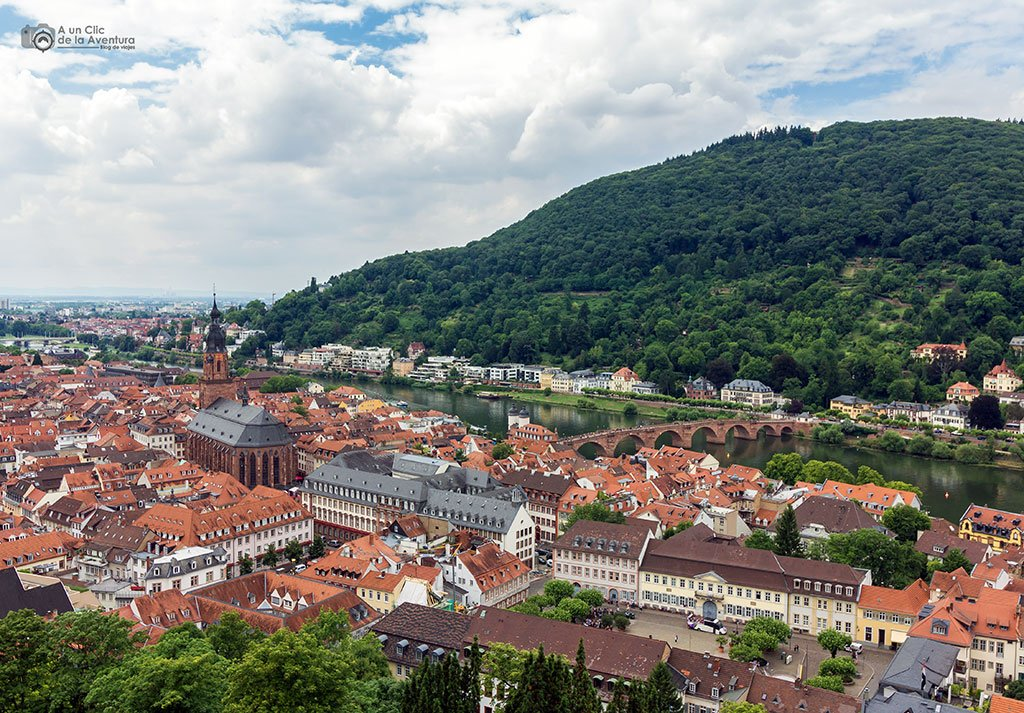 Vista panorámica de Heidelberg desde el castillo - que ver en Heidelberg