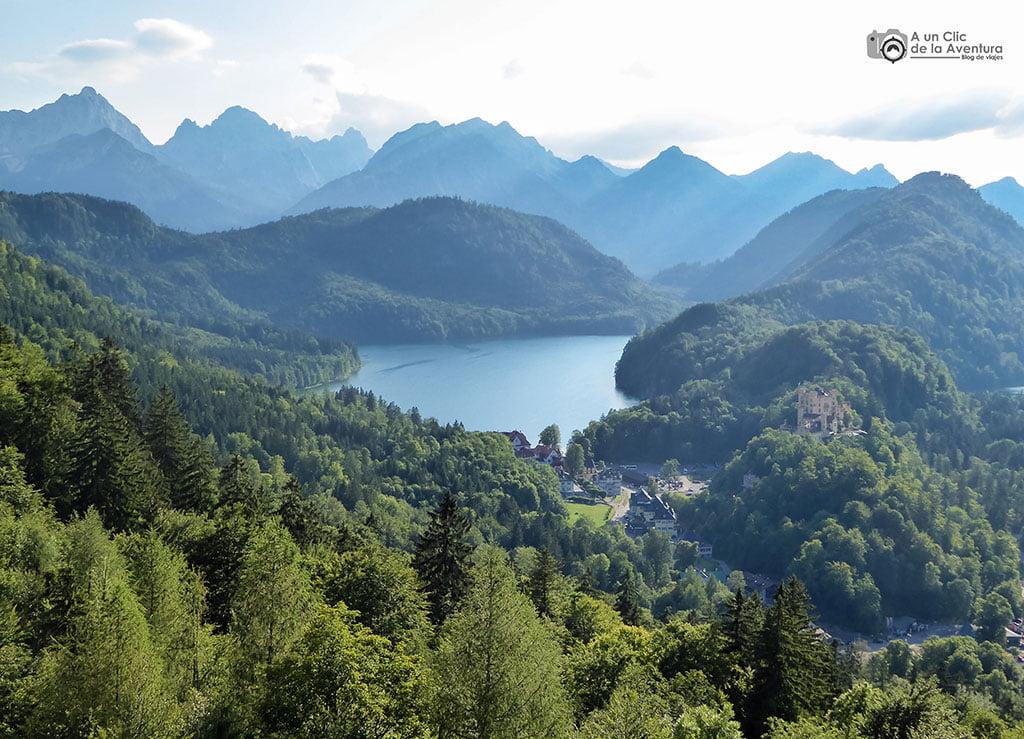 Vistas del lago Alpsee desde el Castillo de Neuschwanstein