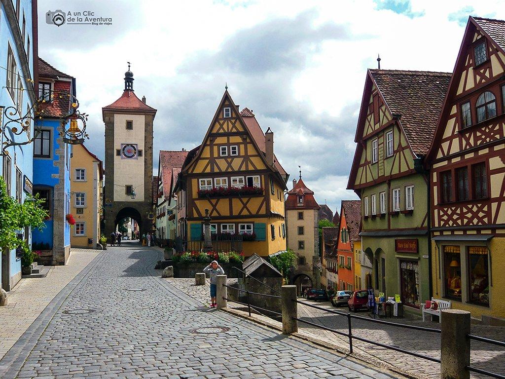 El rincón más fotografiado de Rothenburg ob der Tauber - viaje a Baviera y Tirol