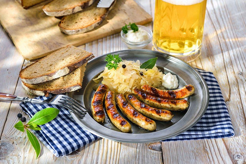 Salchichas de Núremberg con chucrut - viaje a Baviera y Tirol