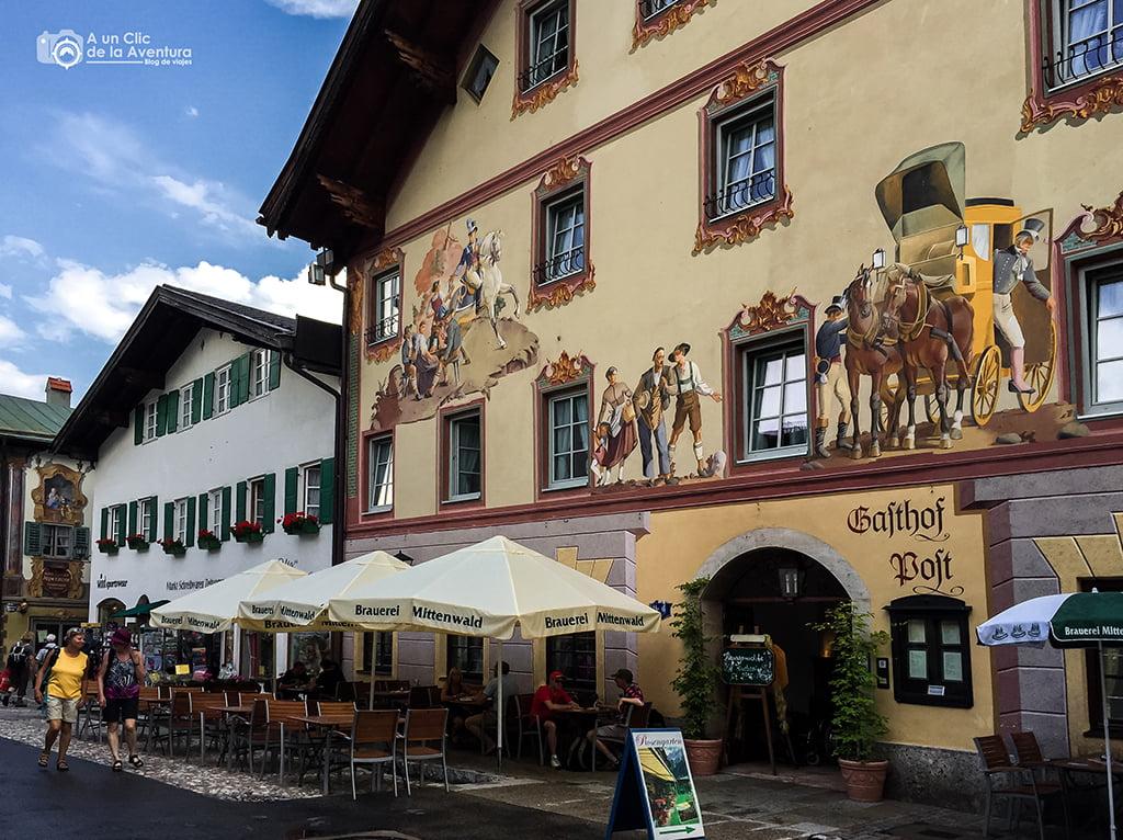 Post Hotel de Mittenwald - viaje a Baviera y Tirol