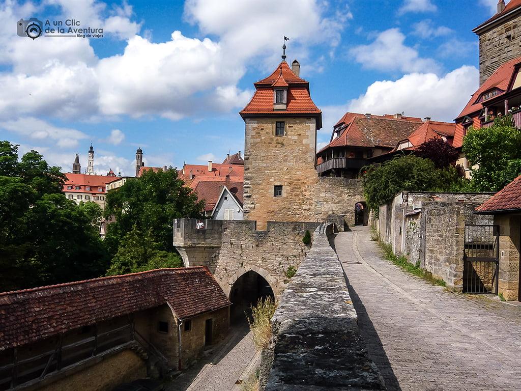 Murallas de Rothenburg ob der Tauber - viaje a Baviera y Tirol