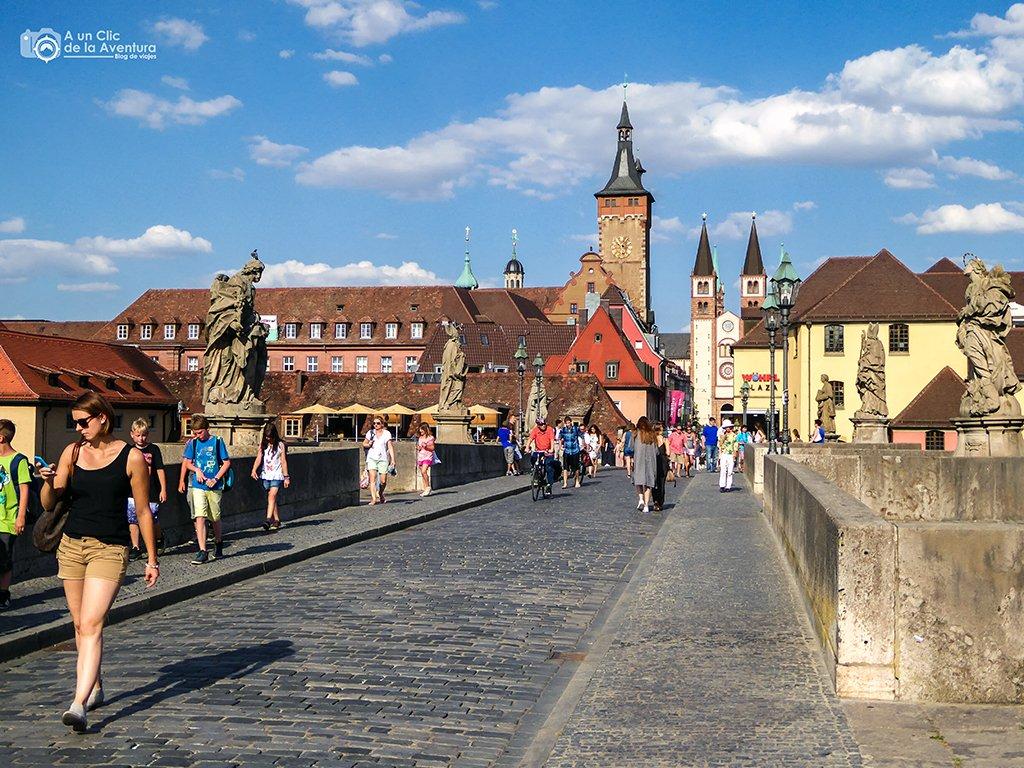 Puente Antiguo o Alte Mainbrücke de Würzburg - viaje a Baviera y Tirol