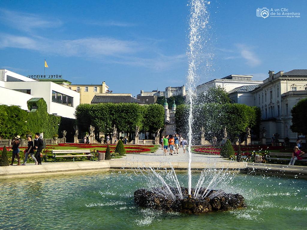 Jardines del Palacio Mirabell de Salzburgo - viaje a Baviera y Tirol