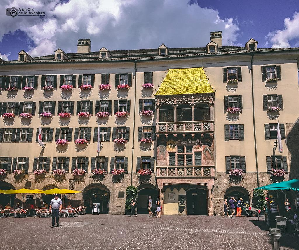 Tejadillo de Oro en Innsbruck - viaje a Baviera y Tirol