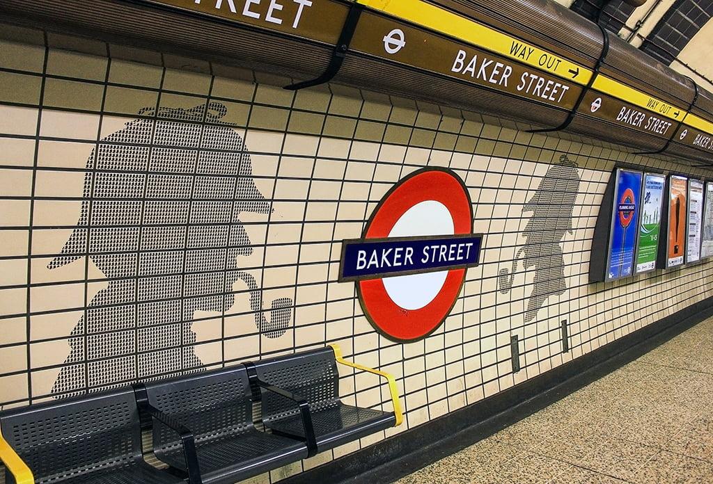 Estación de metro de Baker Street en Londres