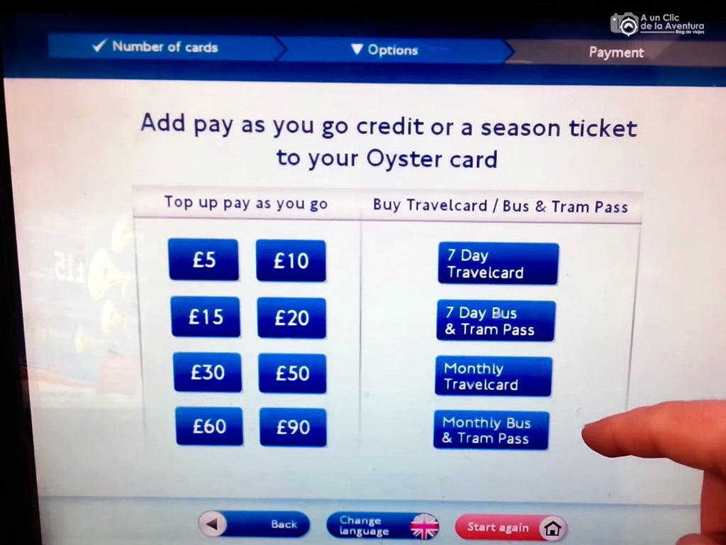 Cómo comprar la tarjeta Oyster Card