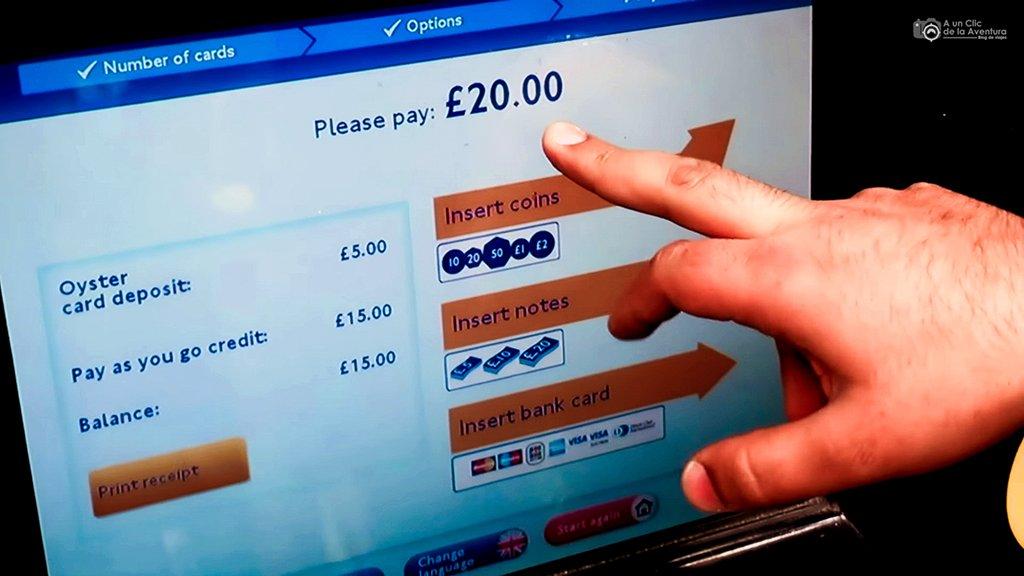 Cómo cargar la tarjeta Oyster Card